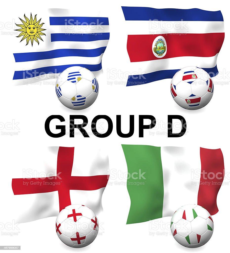 Group D Football stock photo