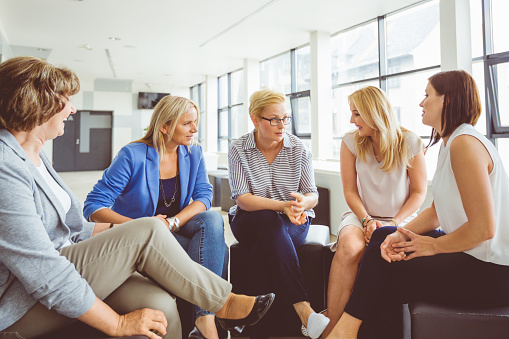 Group Discussion In Office Stock Photo - Download Image Now