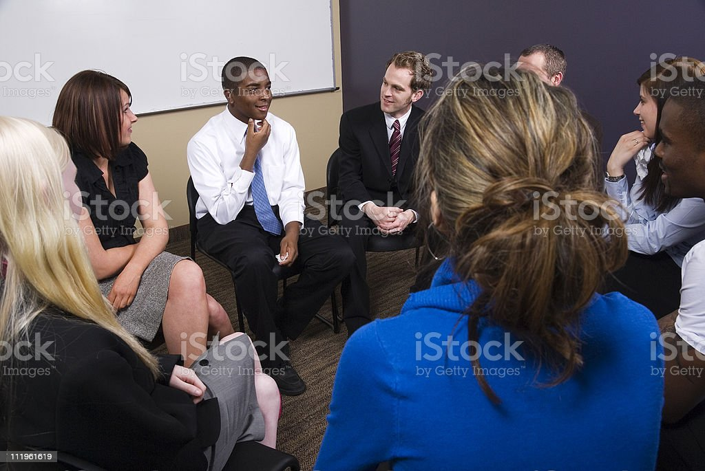 Group discussion stock photo