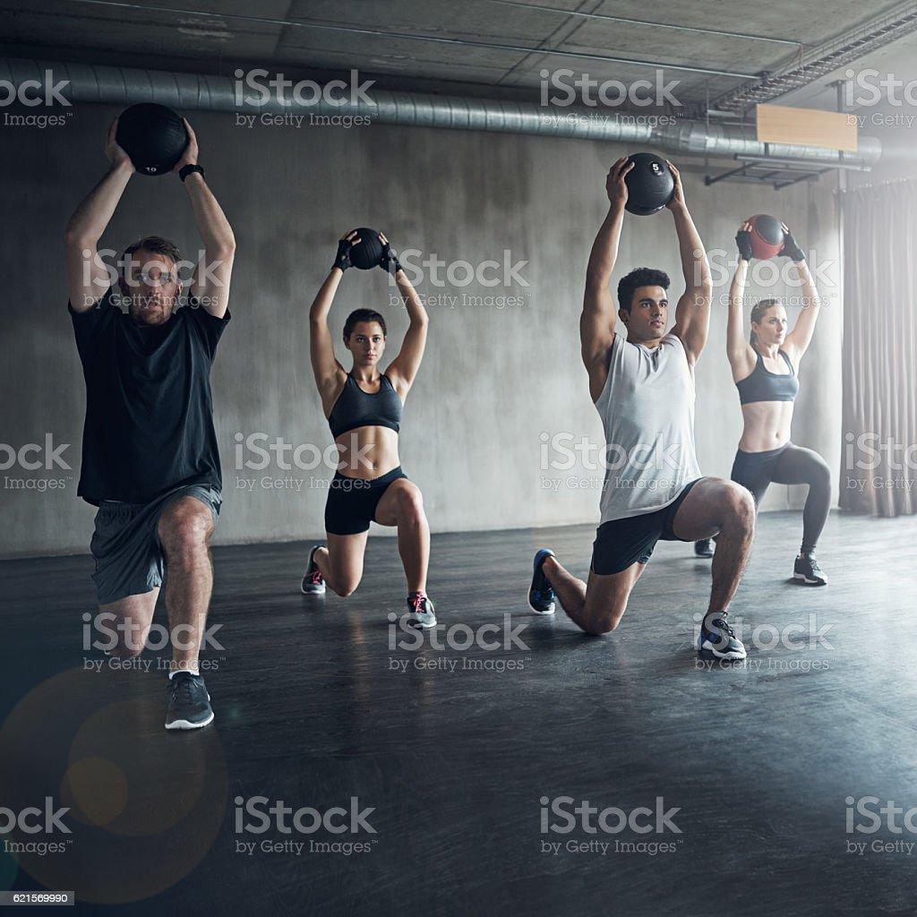 Group exercise deserves to be part of your fitness program photo libre de droits