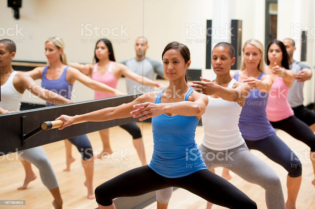 Group Fitness Dance Class stock photo