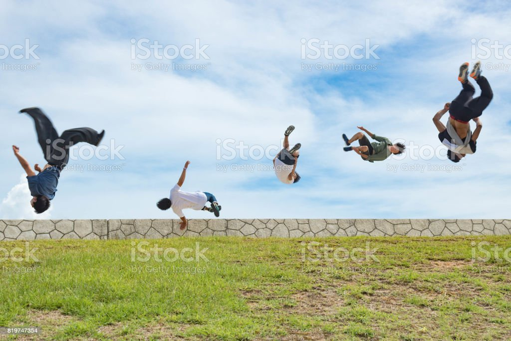 Group Flips stock photo