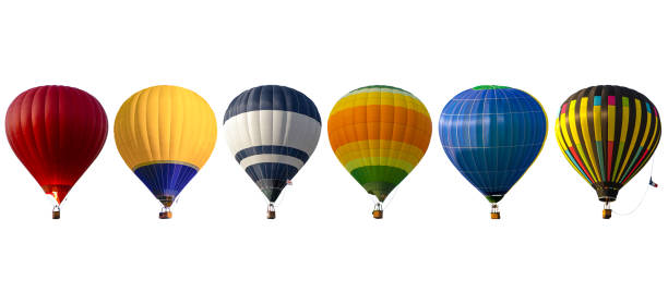 Group hot air balloon on white background roup hot air balloon on white background hot air balloon stock pictures, royalty-free photos & images