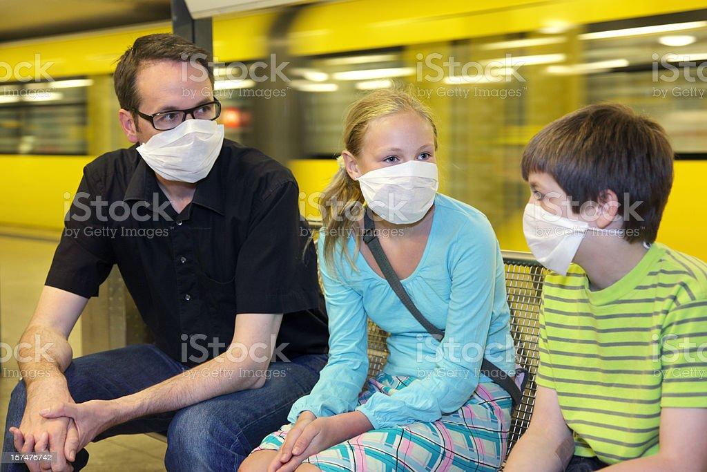 Epidemia di protezione o panico - foto stock
