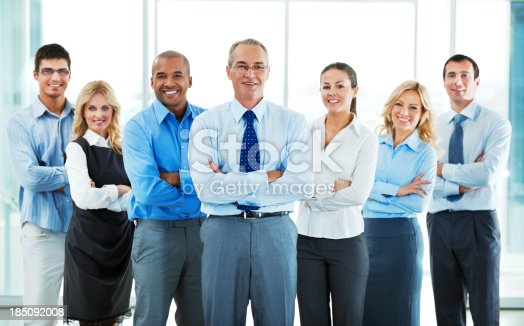 istock Group of a businesspeople standing together. 185092008