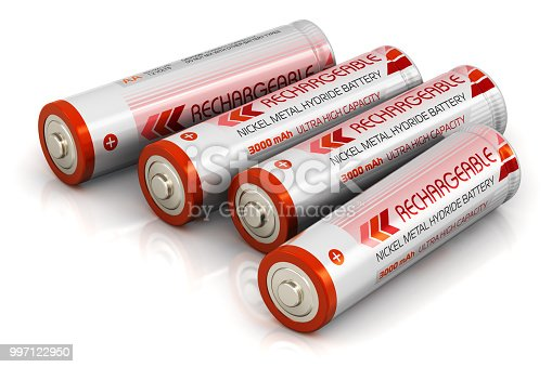 istock Group of AA size batteries 997122950