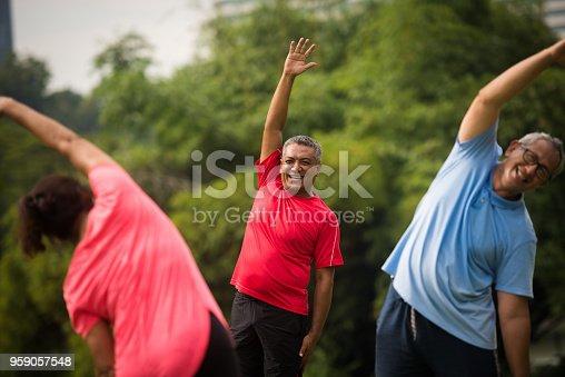 Group of active seniors enjoying their golden years