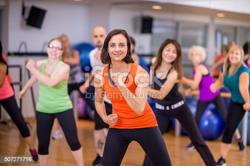 istock Group of Adults Doing Dance Fitness 507271716