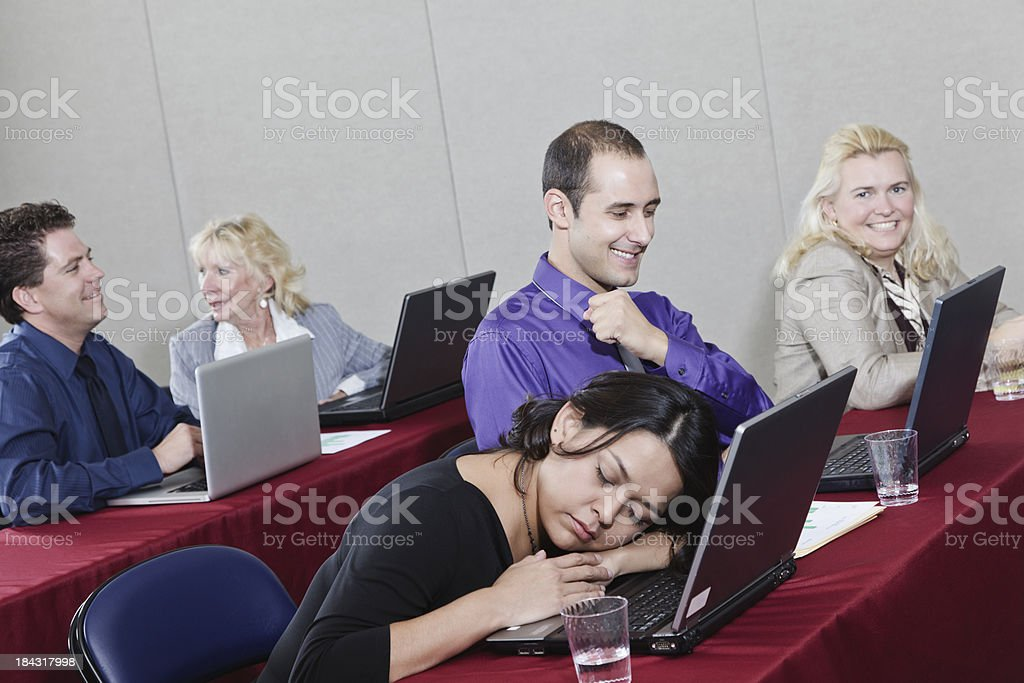 Group of Adults in a Seminar stock photo