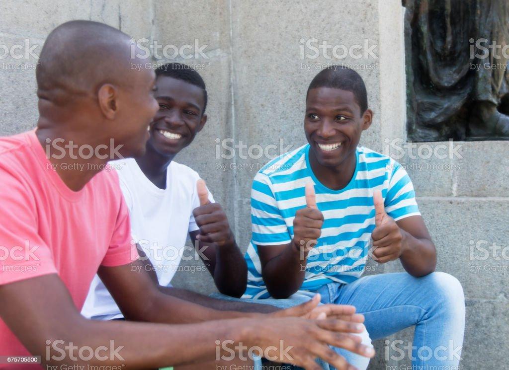 Group of african american man having fun royalty-free stock photo