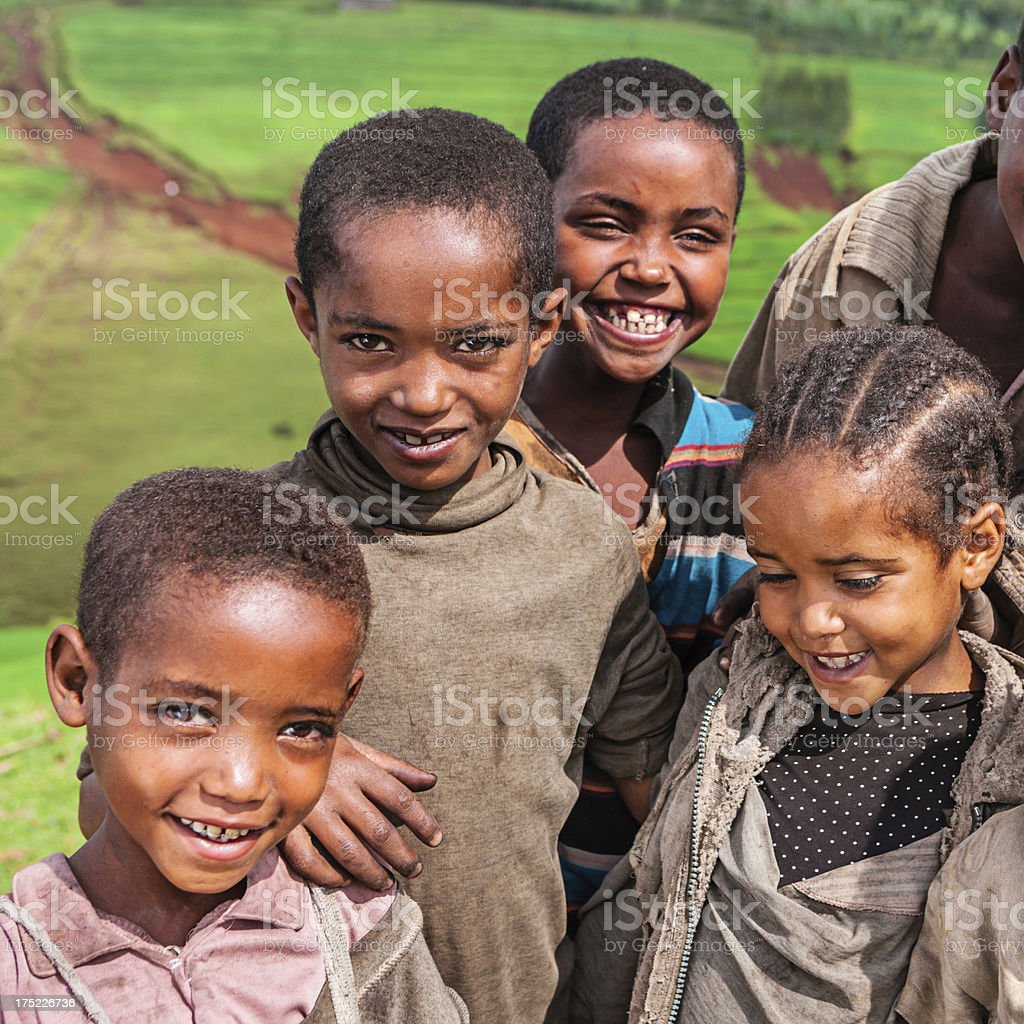 Group of African children, East Africa royalty-free stock photo