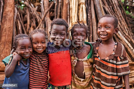 istock Group of African children, East Africa 486056541