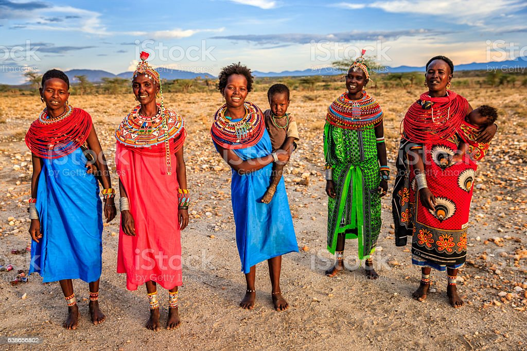 Groupe de femmes africaines de Samburu tribe, Kenya, Afrique - Photo