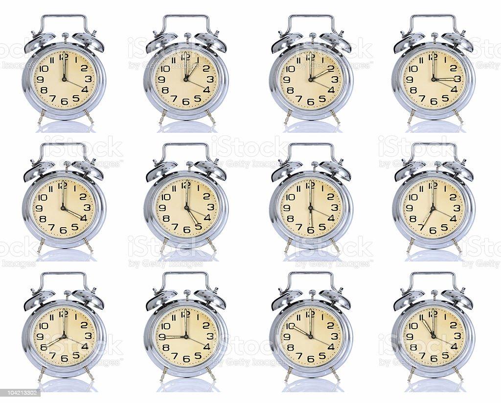 group of alarm clock royalty-free stock photo