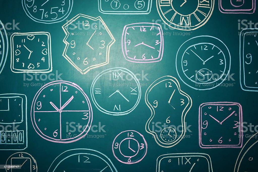 Group of alarm clocks royalty-free stock photo