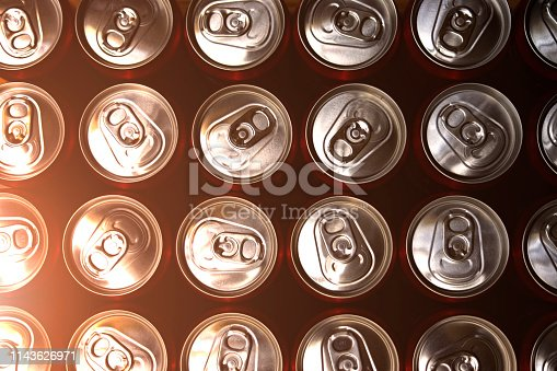 istock group of aluminium cans.Cover aluminum cans. Aluminum cans. Top 1143626971
