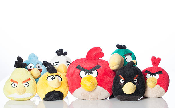 Group of Angry Birds stock photo