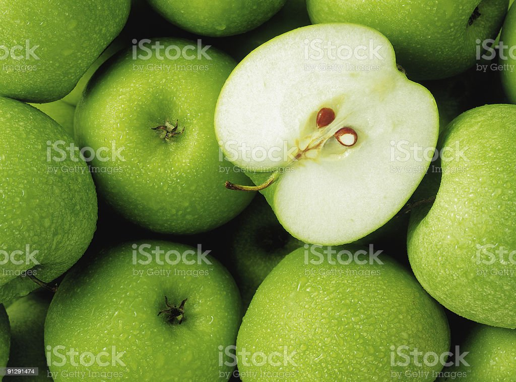 Group of apples stock photo