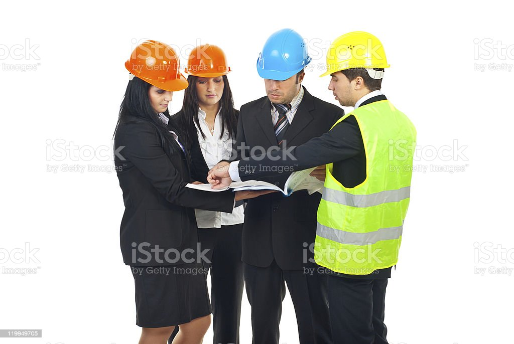 Group of architects having conversation royalty-free stock photo
