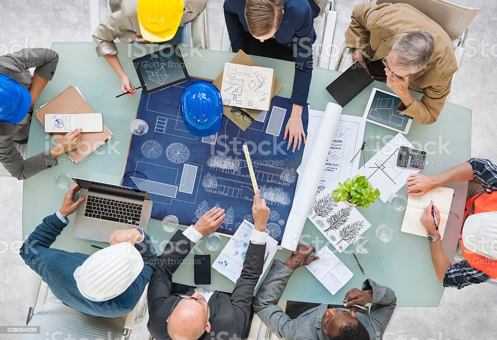 Group of Architects Planning stock photo