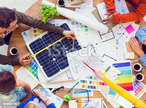 istock Group of Architects Working on a Plan 483692857
