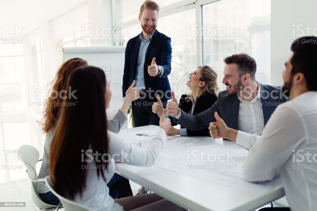 Group of architects working on business meeting royalty-free stock photo