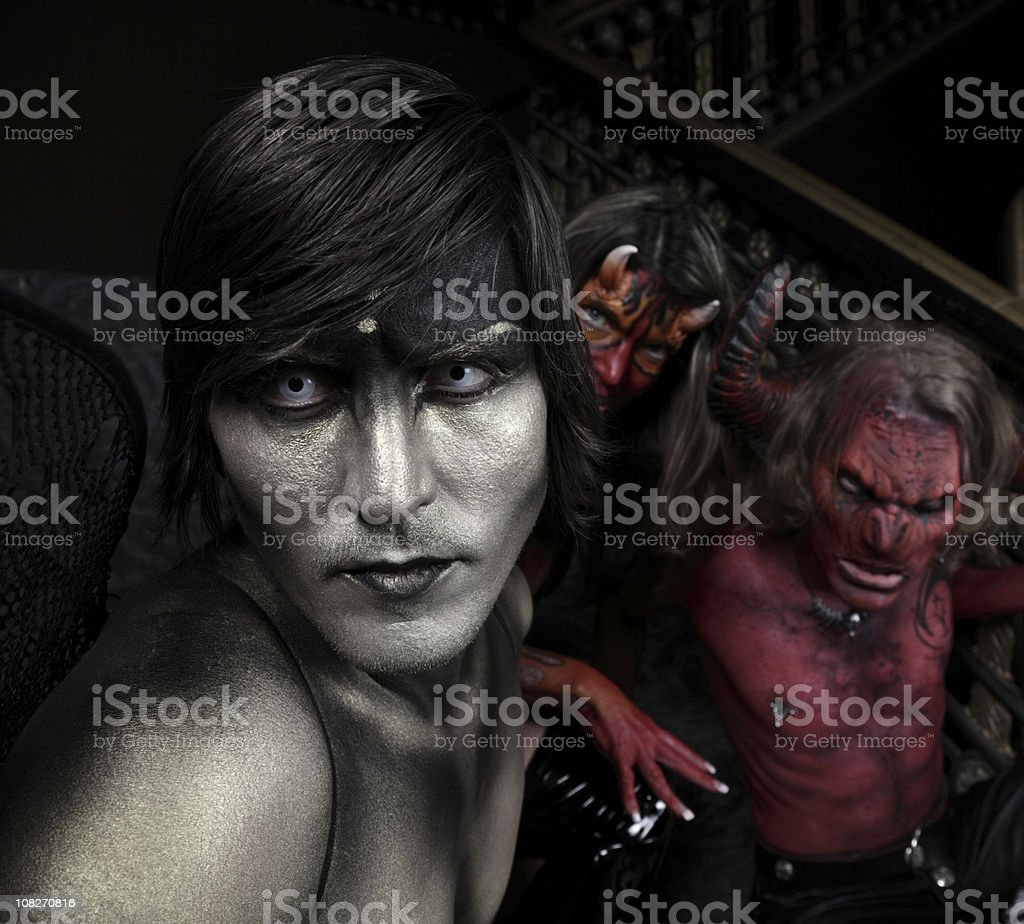 Group of assorted Demons and Devils royalty-free stock photo