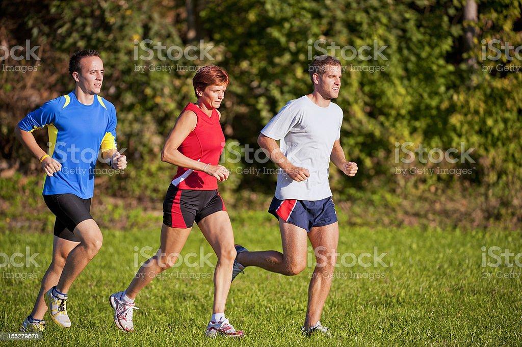 Group of  athletes jogging royalty-free stock photo
