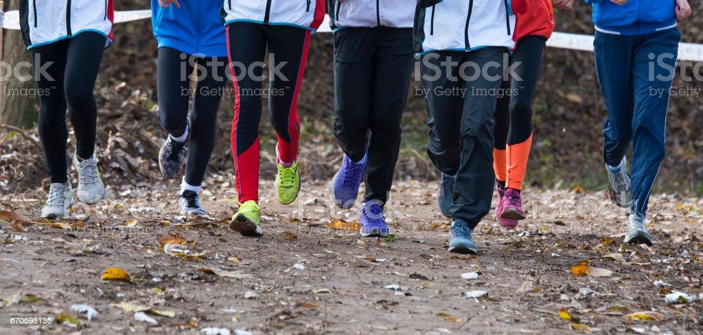 Group of athletes stock photo