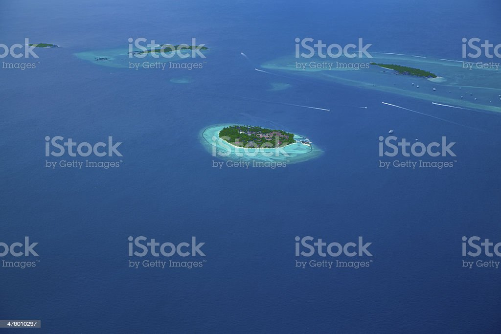 Group of atolls in Maldives stock photo