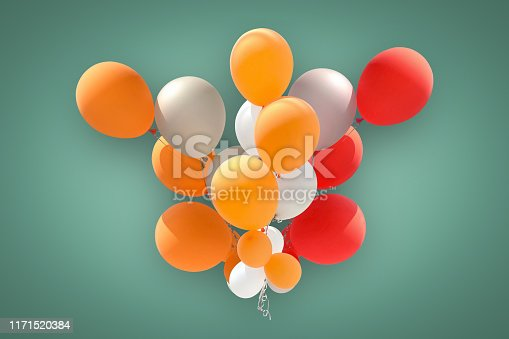 istock Group of balloons for party decoration isolated 1171520384
