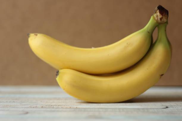 Group of bananas, studio shot stock photo