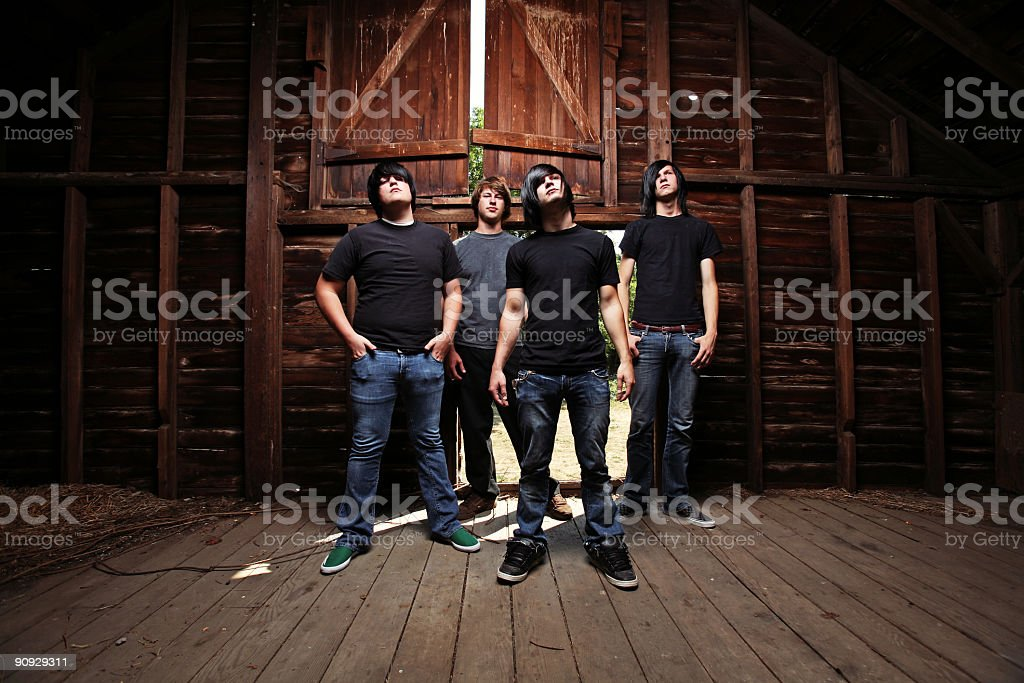 Group of Barn Men Standing royalty-free stock photo
