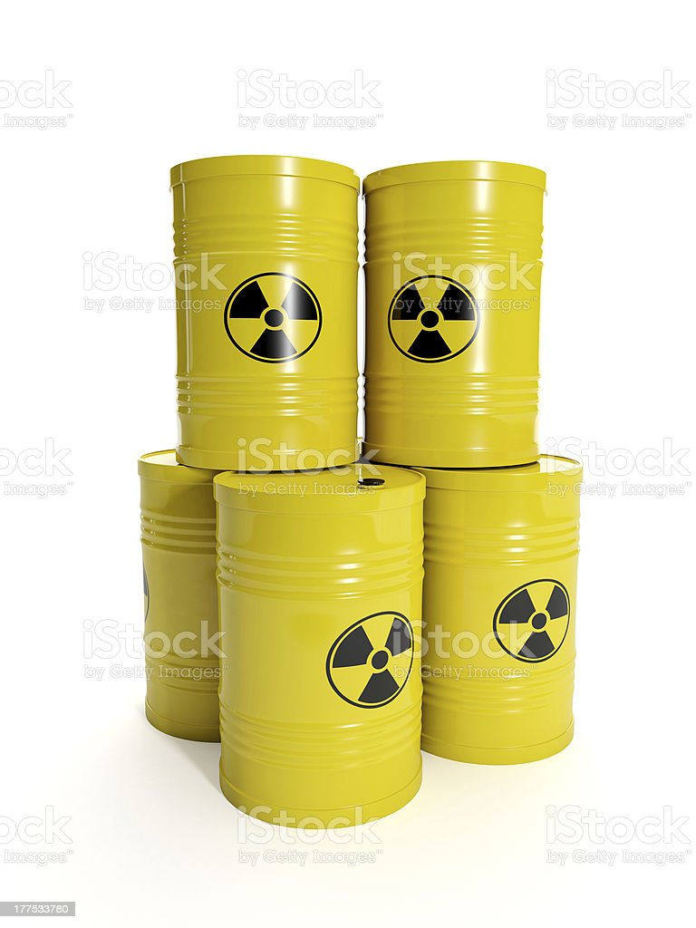 group of barrels stock photo