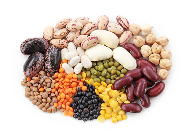group of beans and lentils - bean stock photos and pictures