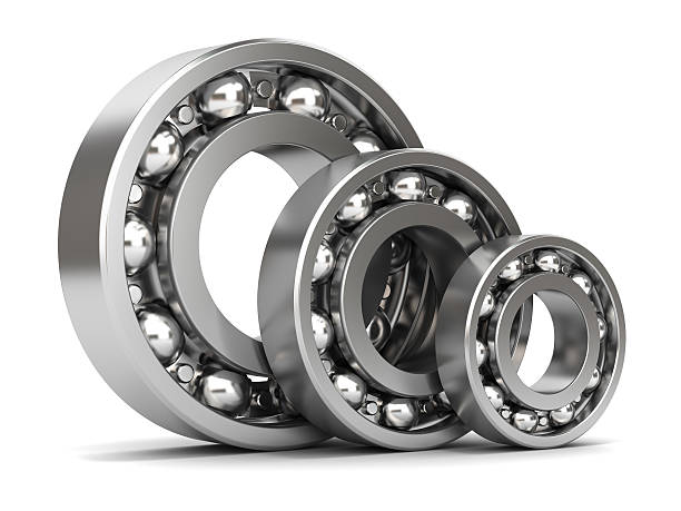 Group of bearings isolated stock photo
