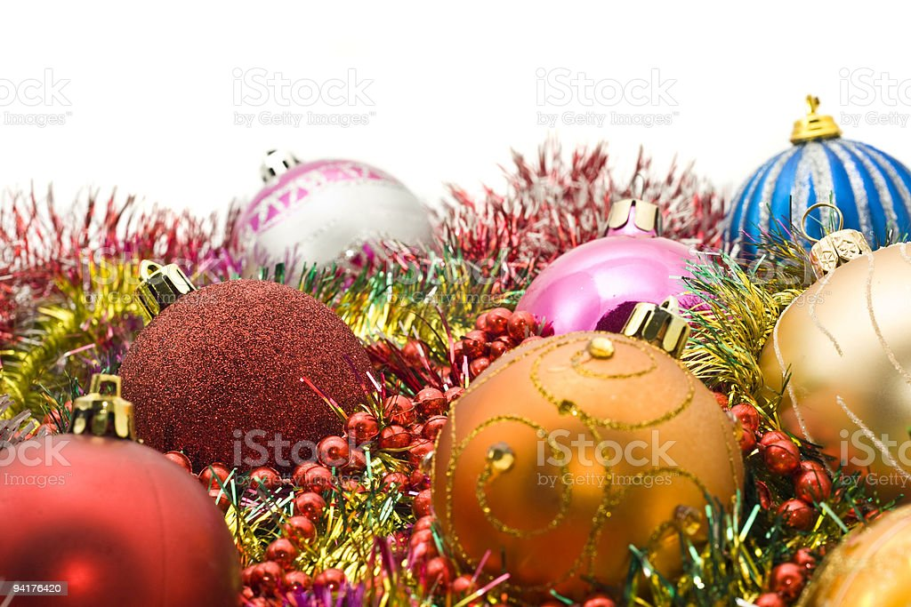 Group of Beautiful Christmas decoration balls royalty-free stock photo