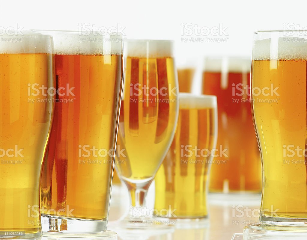 Group of beers stock photo