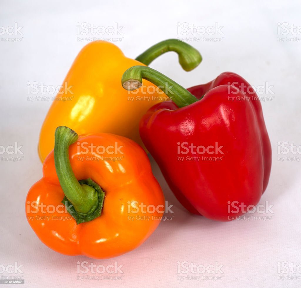 group of bell peppers stock photo
