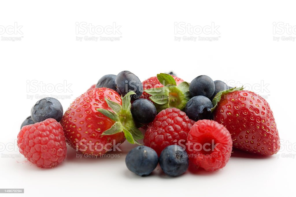 A group of berries isolated on white royalty-free stock photo