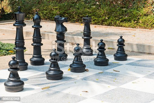 istock group of big chess for game 666232348
