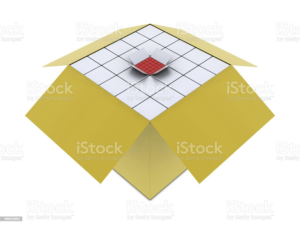 Group of boxes royalty-free stock photo