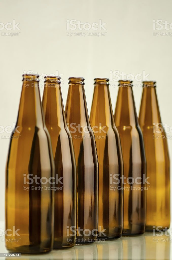 Group of brown bottle stock photo
