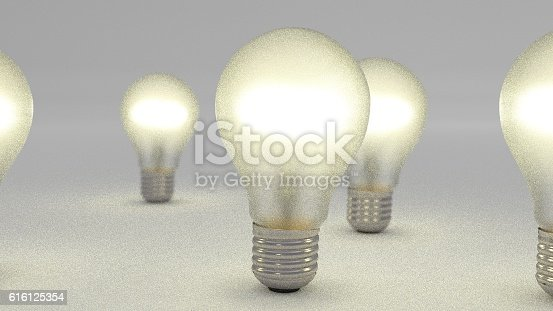 istock group of bulbs 3d render 616125354