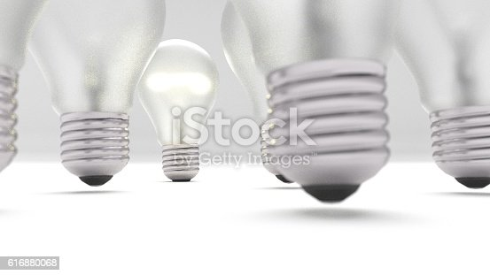 578276932 istock photo group of bulbs 3d render 616880068