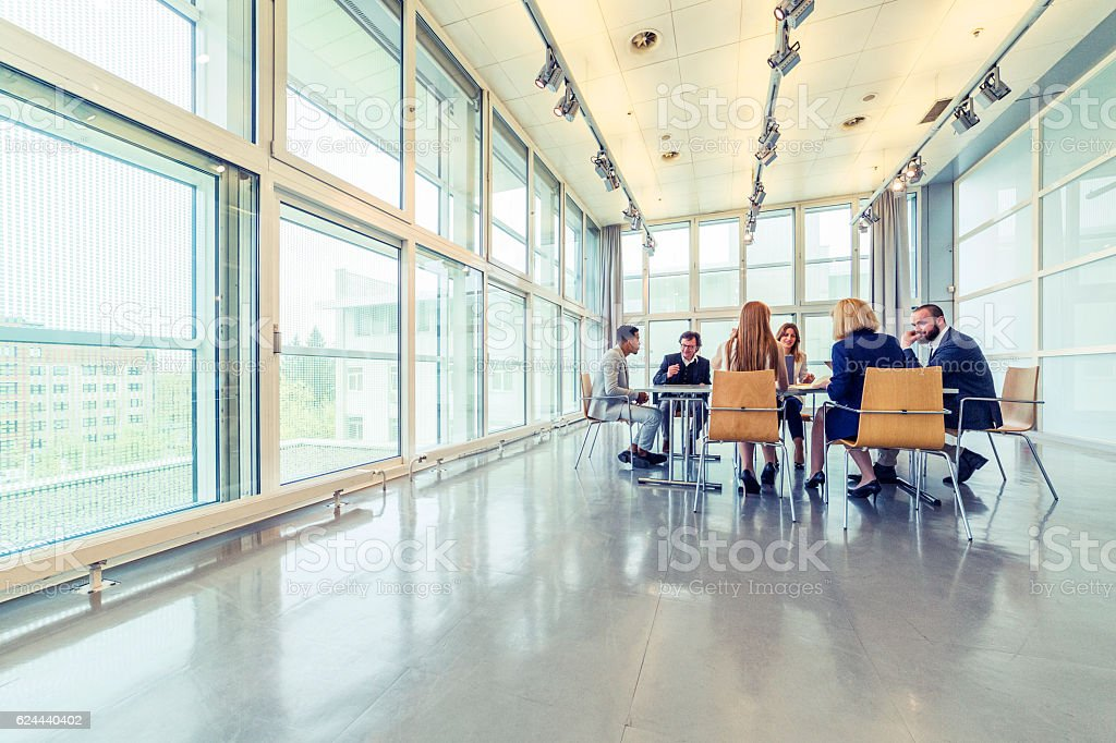 Group of busines people in the meeting stock photo