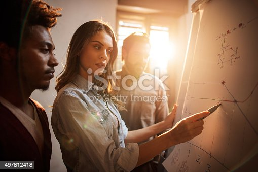 istock Group of business colleagues analyzing a chart together. 497812418