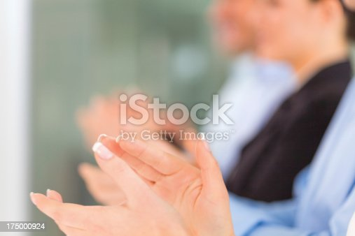 497183120 istock photo Group of business people applauding 175000924