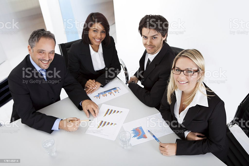 Group of business people at the meeting royalty-free stock photo
