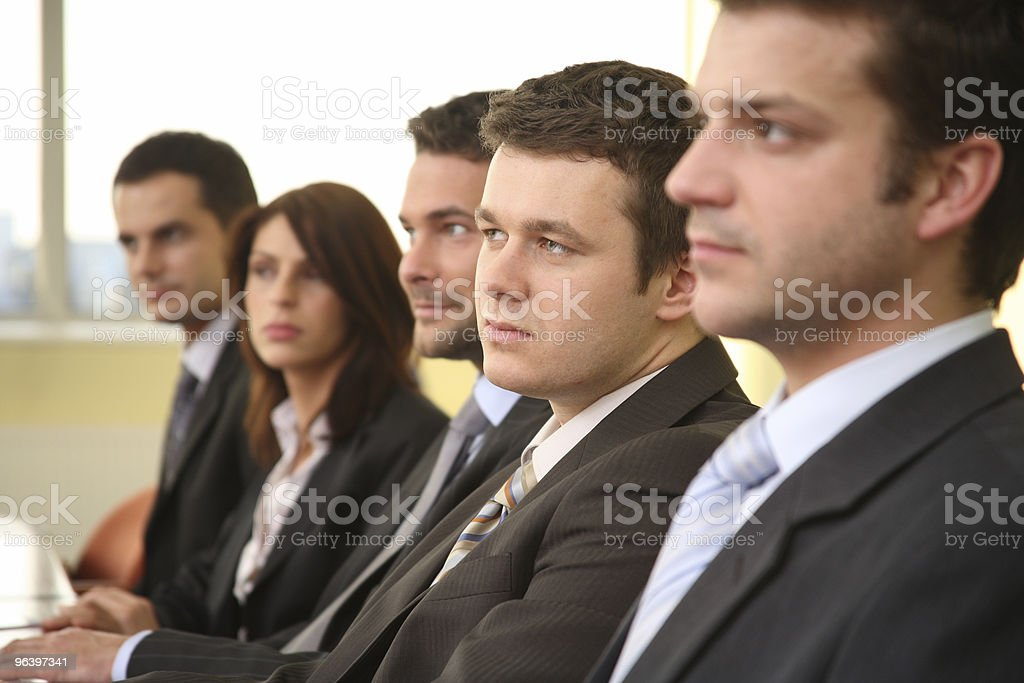 group of business  people at the meeting stock photo